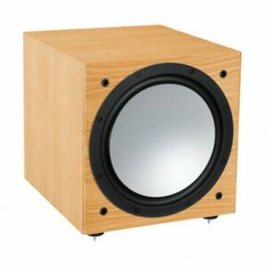 SUBWOOFER ATTIVO MONITOR AUDIO SILVER W-12 6G NATURAL OAK CASSE SPEAKERS