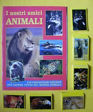 I Nostri Amici Animali Album vuoto  + set Completo di  216 figurine Ed. Gallo