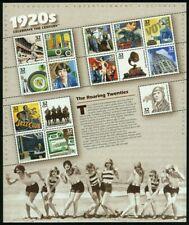 Celebrar el siglo década de 1920 Hoja de quince 32 Centavos Estampillas Postales Scott 3184