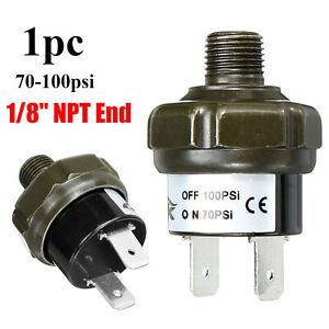 "1/8"" NPT Air Compressor Tank Pressure Control Switch 70psi ON 100psi OFF 12V 24V"