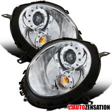 For 2007-2012 Mini Cooper Clear Lens Halo Projector Headlights Head Lamps Pair
