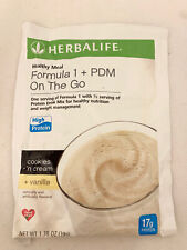 Single Package Herbalife Cookies Cream Vanilla Formula 1 PDM On the Go Exp 9/21