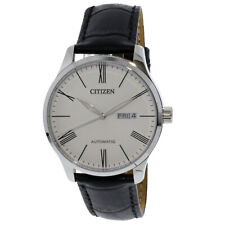 Citizen Men's Automatic NH8350-08A Silver Leather Hand Wind Fashion Watch