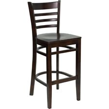 Flash Furniture Wood Restaurant Bar Stool, Walnut - XU-DGW0005BARLAD-WAL-GG