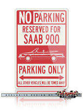 Saab 900 Turbo Convertible Cabriolet Reserved Parking Only 12x18 Aluminum Sign