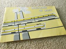 1960 RAILROADS AT WORK PICTURE BOOK RAILROADS IN ACTION ASS.OF AMERICAN RAILROAD