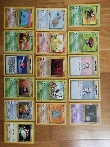 Lot 16 Cartes Pokemon wizard Set De Base fr bon état