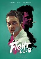 Fight Club 1999 Brad Pitt Stretch Canvas Art Movie Poster Film Print Action