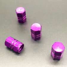 4Pcs Purple Aluminum Tire Wheel Rims Stem Air Valve Car Caps Tyre Cover Caps