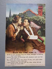 R&L Postcard: Bamforth Song Card When You Come Home 3, Series 4874