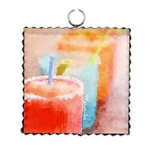 Round Top Collection NWT - Mini Margaritas Print - Metal & Wood