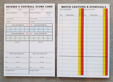 Football Soccer Referee Match Report Sheet Pad Record - Score Card cards x50