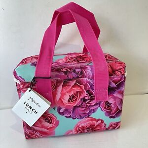 Paperchase Pink Roses Floral Lunch Bag
