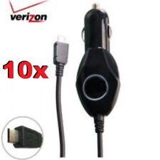 Lot of 10 Verizon Car Chargers - Micro Usb Black Universal Samsung Lg +more
