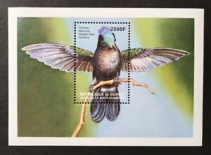 GUINEA HUMMINGBIRD SOUVENIR SHEET 1999 MNH BIRD STAMPS WILDLIFE NATURE