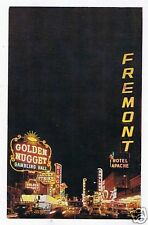 Fremont Street At Night Glitter Gulch Early 1950's PC