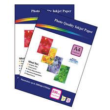 130gsm A4 Matt Photo Inkjet Printer Paper - 200 Sheets