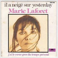 ♫ Marie Laforêt ♫  Il a neigé sur Yesterday ♫ Polydor 1977 ♫ vinyle 45 tr .45rpm