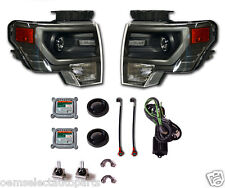 New Oem 2009-2014 Ford F-150 Grey Hid Headlights - Pair - Retrofit Kit