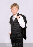 Boys Grey Suit Formal Wedding Christening Funeral Cruise Age 1-13 Years Oscar