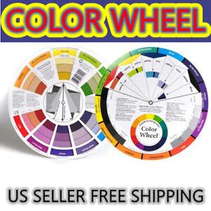 1) pc Color Wheel Paint MIXING COLOR GUIDE Art Artist 5.5 inch 14cm US 2 side