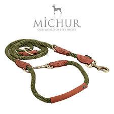 Michur Sherpa Führleine Lederleine Nylon 3 Fach verstellbar Hundeleine Leine