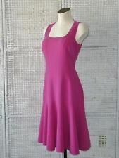 Designer MICHAEL KORS~ITALY~Drop Waist Fit+Flare Hot Pink Sheath Knit Dress~14