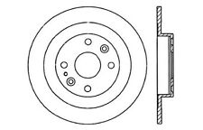 Centric Parts 121.45041 Rear Disc Brake Rotor