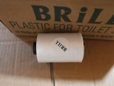 New Brill Hygiene Disposable Plastic For Toilet Seats 10 Film Rolls 12 Spools