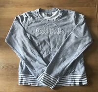 WOMENS NIKE JUST DO IT  GREY JUMPER HOODIE UK 14-16
