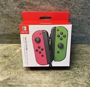 Nintendo Switch Joy-Con Pair - Neon Pink and Neon Green (With Straps)