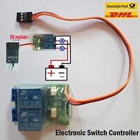 Elektronischer Schalter mit Spannungsanzeige für Empfängerstromversorgung