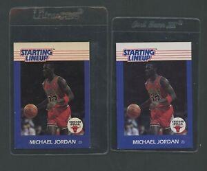 Lot of (2) 1988 Kenner Starting Lineup Michael Jordan Chicago Bulls HOF