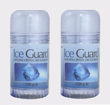 2x Ice Guard Twist Up Natural Crystal Deodorant 120g