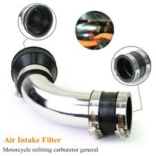 1*Air Intake Pipe Kit Carburetor Air Pod Filter Curved Tube Cleaner Intake 48MM