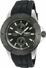 New Mens Invicta 14386 Pro Diver Black Rubber Strap Watch