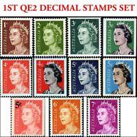 Australian 1966 Full SET 1st QE2 Decimal Stamps 11x Queen Elizabeth Royal issues
