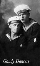 Vintage Photo. Loving Sailor Couple Embrace. Gay Int GD-00492