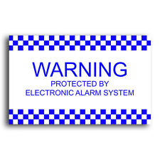 Electronic Alarm System Security Corflute Sign - Weather Proof