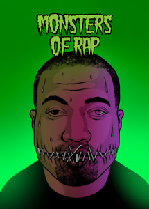 Monsters of Rap KANYE WEST Yeezy - Digital NFT Card  - Mint #537 RARE!!