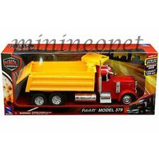 NEW RAY 10863 A LONG HAUL TRUCKER PETERBILT MODEL 379 DUMP TRUCK 1/32 RED YELLOW