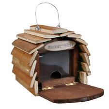 Wooden Squirrel Feeding Station Wooden Garden House Hanging Feeder Hotel HOTEL4