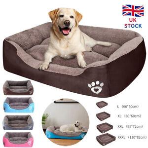 XXXL Comfy Pet Bed Warm Fluffy Nest Dog Bed Nest Cat Puppy Mattress Fur Pad UK