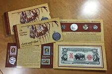 2004 Lewis & Clark Coinage & Currency Set with UNC Commemorative Dollar $1