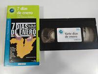 7 DIAS DE ENERO JUAN ANTONIO BARDEM VHS CAJA CARTON CASTELLANO EL MUNDO