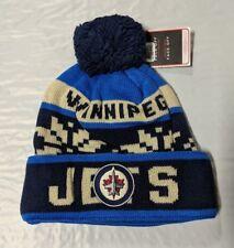 Winnipeg Jets Knit Beanie Toque Winter Hat Cap NHL New Snowflake Cuffed Pom