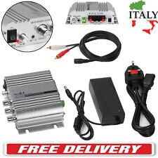 2.1ch HIFI AUDIO AUTO CASA AMP AMPLIFICATORE STEREO SUPER BASS+12V Amplificatore