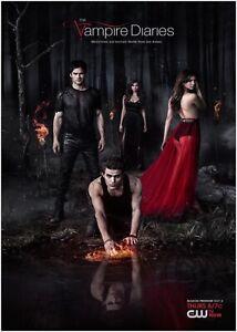The Vampire Diaries TV Show Large Poster Art Print A0 A1 A2 A3 A4 Maxi