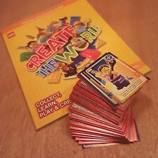 COMPLETE Mint Lego Create The World Set of 140 Cards plus Album from Sainsbury's