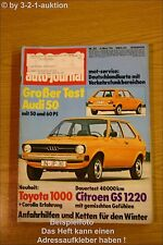 MOT 22/74Audi 50 Citroen GS Toyota 1000 504 Coupe